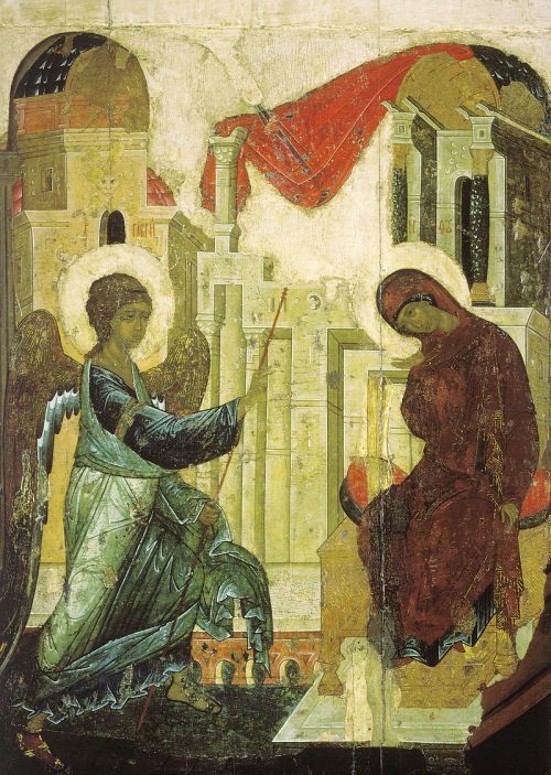 Annunciation_from_Vasilyevskiy_chin_(1408,_Tretyakov_gallery)