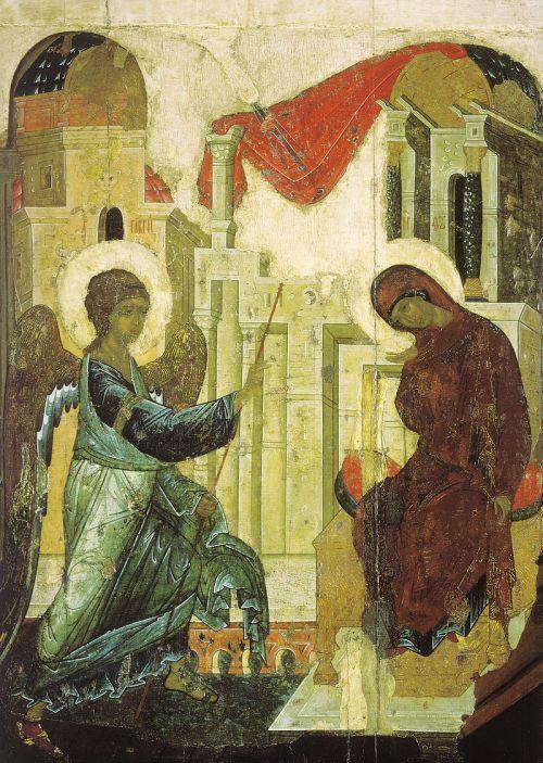 Annunciation_from_Vasilyevskiy_chin_(1408,_Tretyakov_gallery)